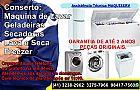 Conserto maquina de lavar, geladeira, lava e seca, secadora