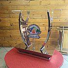 Pulpito de acrilico e aco inox modelo - neemias para igrejas