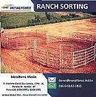 Ranch sorting e redondel de doma de cavalo, porteira
