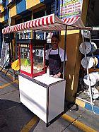 Barraquinha de pipoca para porta de loja em itanhaem