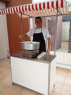Barraquinha de algodao doce para porta de loja em itanhaem