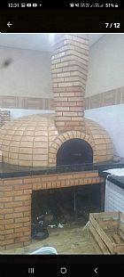 Forno a lenha para pizzaria completo com material e montagem