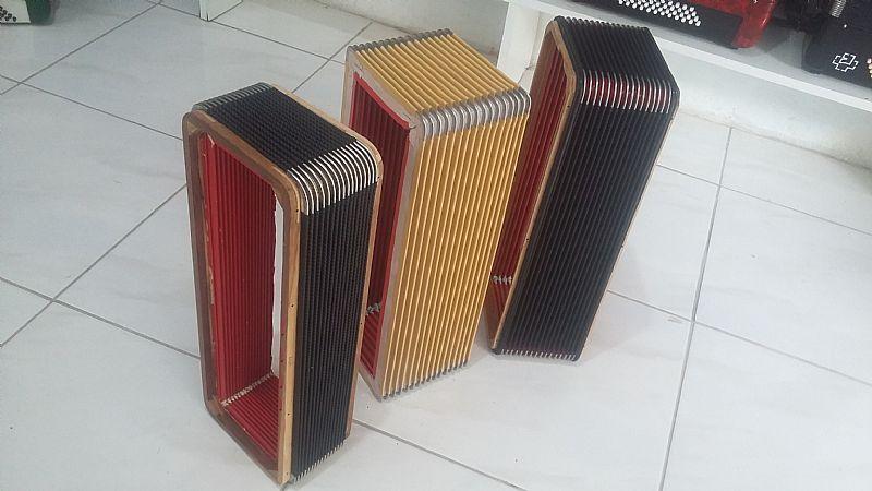 Fole de acordeon,     afinacao,     eletrificacao,     fechos,     correias...