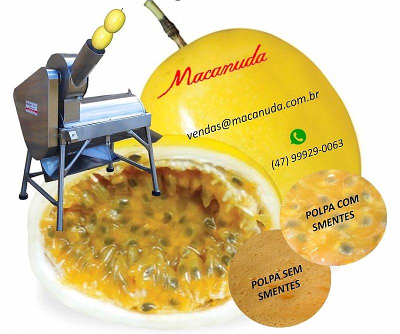 Máquina de cortar maracujá