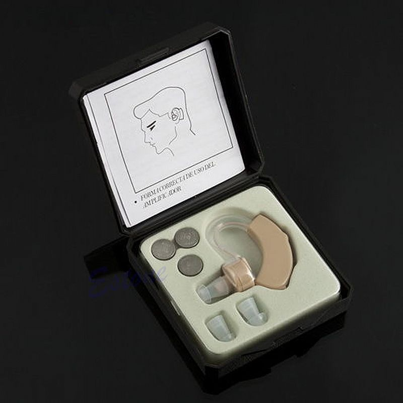 Aparelho auditivo, gratis pack com 10 baterias