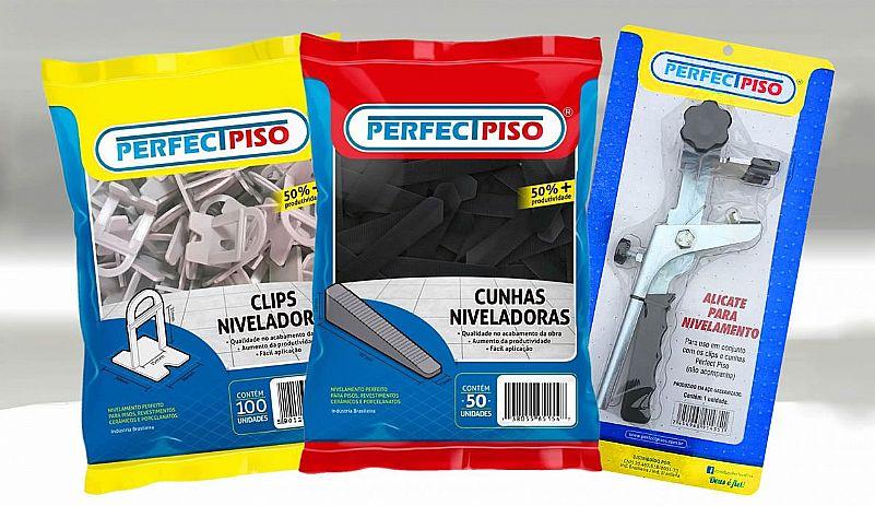 Nivelador De Piso e Porcelanato 1000 Clips 300 Cunhas   Alicate