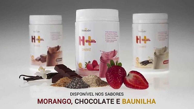 Shake Hinode H  Com Whey Protein Sem Gluten E Zero Acucar