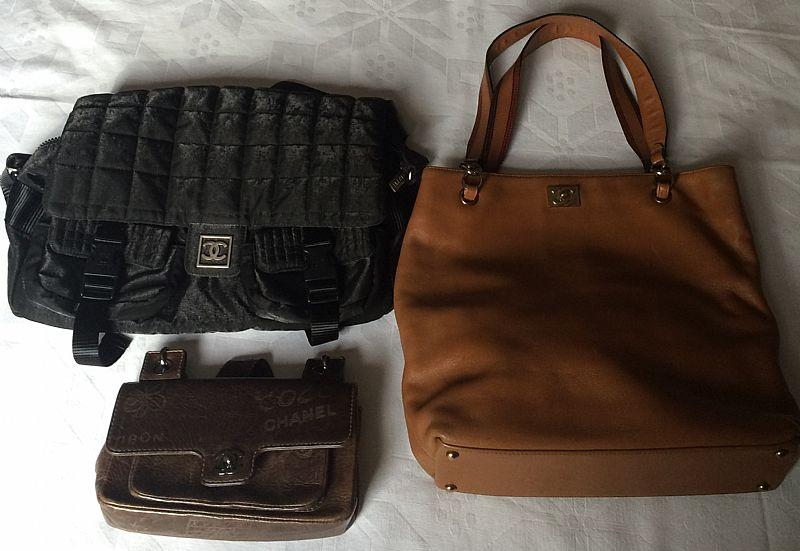 Lote com 3 bolsas CHANEL originais