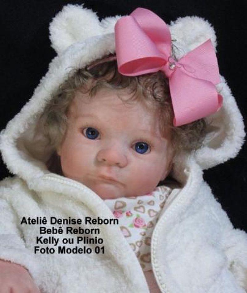 Boneca Bebe Reborn Kelly ou Plinio parece um bebe real