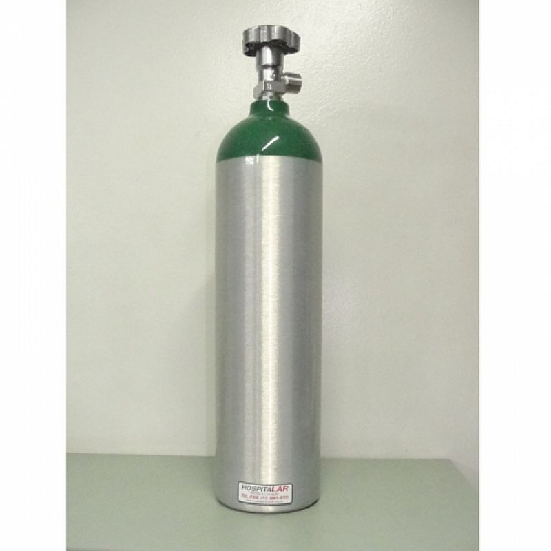 Cilindro de oxigenio medicinal vazio