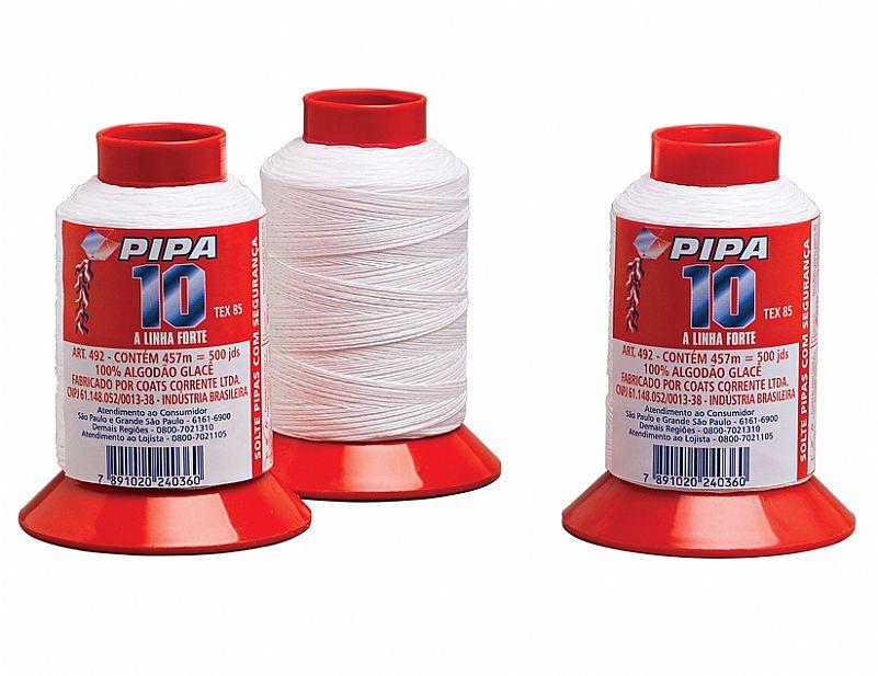 Linha de Pipa Lipasa nº10 Ref.492 Carretel c/ 500jds - unidade