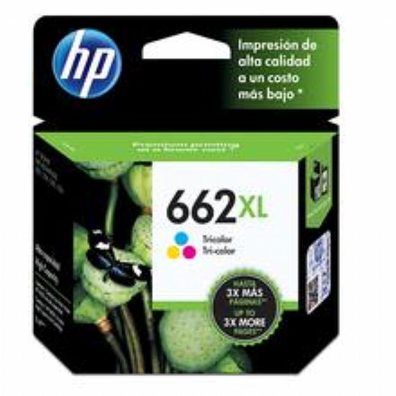 Cartucho de Tinta HP 662XL Tricolor