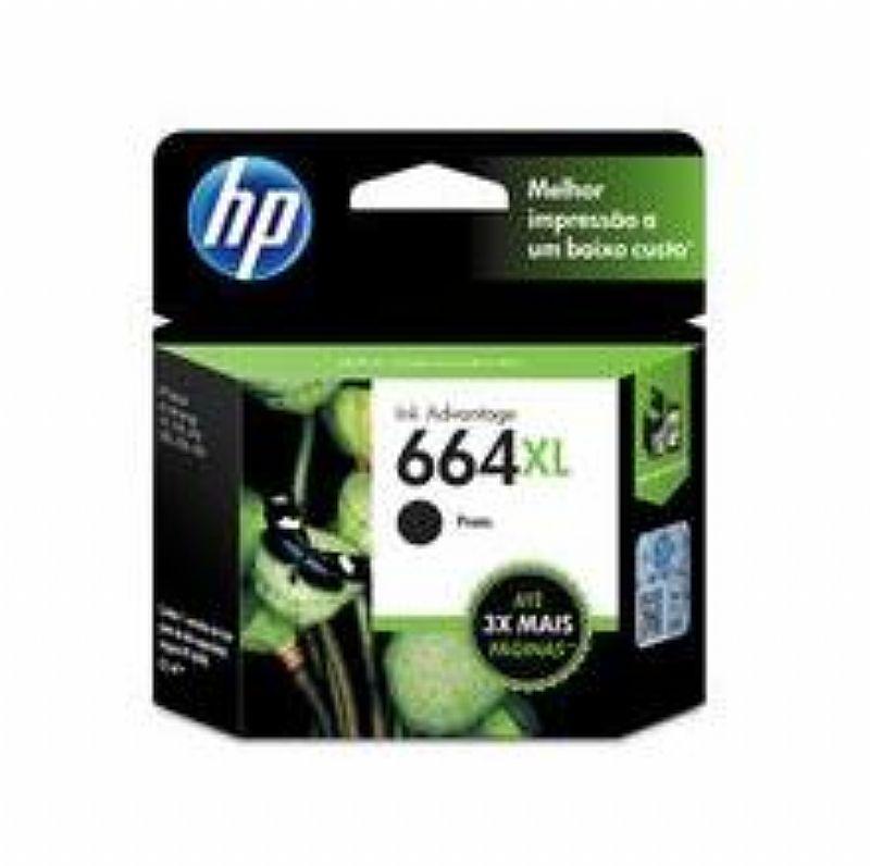 Cartucho de Tinta INK Advantage HP Suprimentos F6V31AB HP 664XL Preto 8, 5 ML