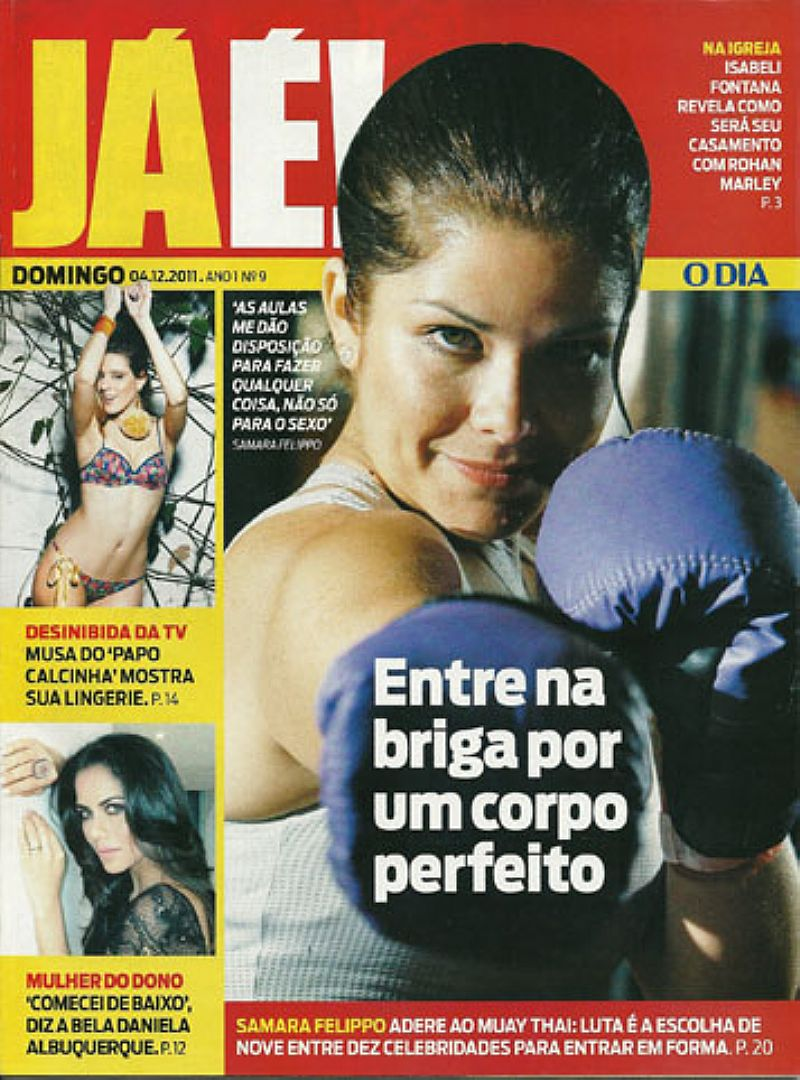 Samara Felippo,    Adere ao Muay Thai,    Para Ter Um Corpo Perfeito,    Revista JÁÉ Domingo nº 9
