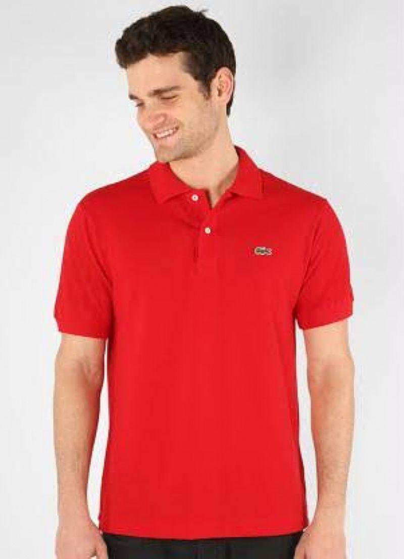 Camiseta vermelha Lacoste