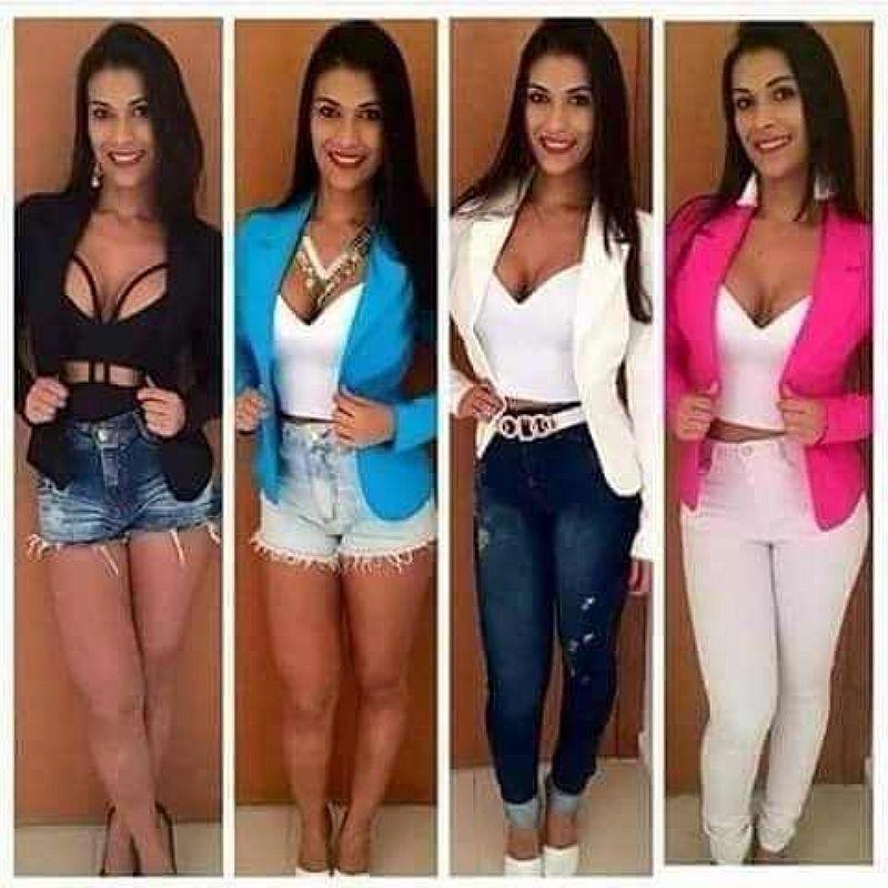 Blazer Feminino Varias Cores Terninho Colorido - Pta Entrega