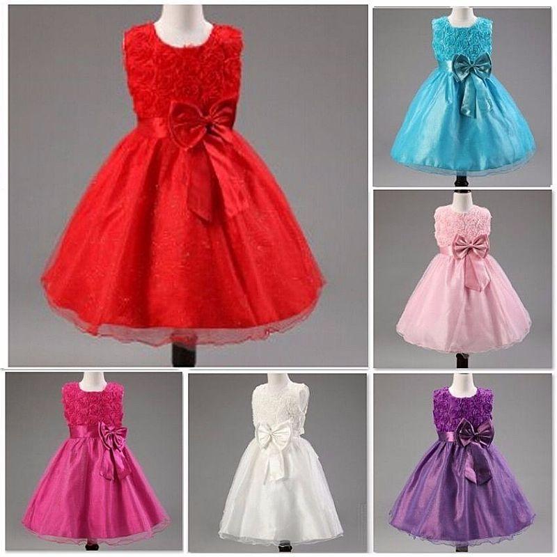 Vestido Infantil Festa Crianca Princesa Laco Pronta Entrega