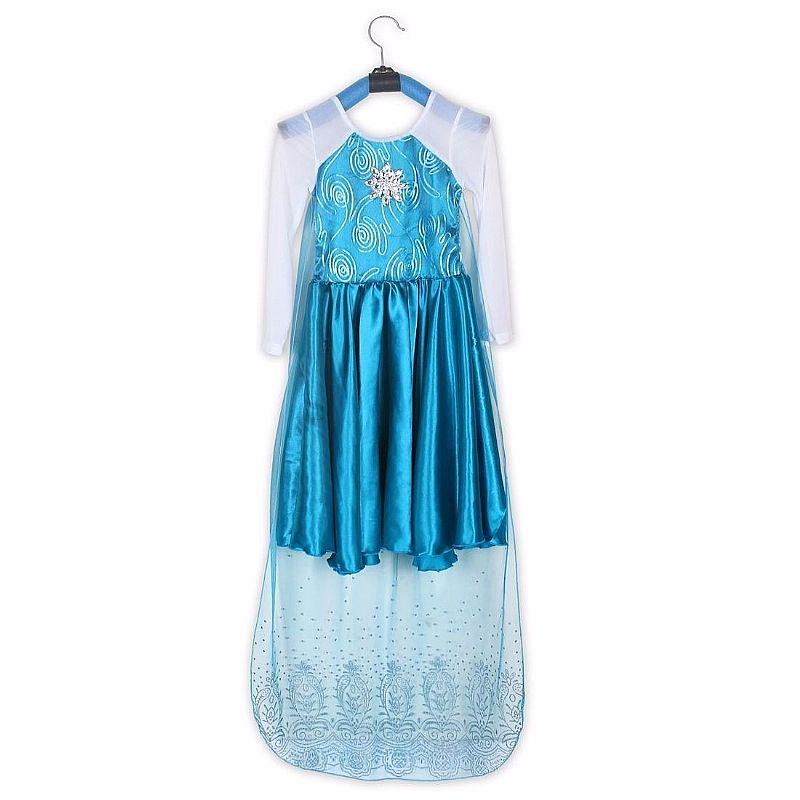 Vestido Fantasia Infantil Crianca Filme Frozen Elsa C/ Coroa