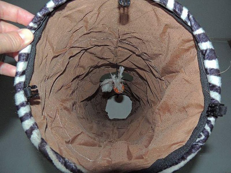 Toca Tunel Brinquedo para PET cao e gatos com bolsa