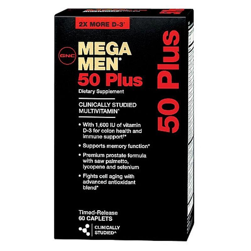 Multivitaminicos Mega Men 50 Plus 60tabls GNC
