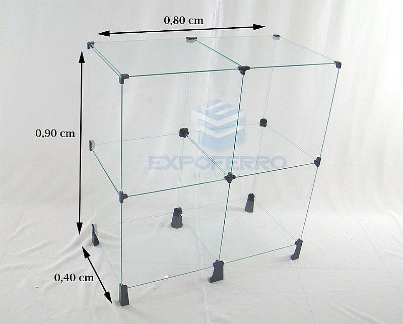 Estante De Vidro Temperado : Estante vidro temperado vitrine de loja 90x80