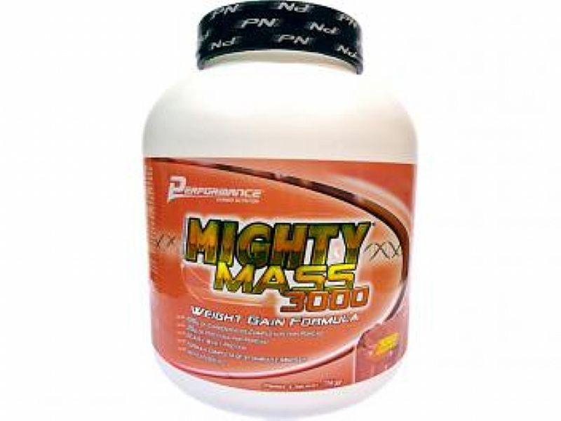 Hipercalorico Mighty Mass 3000 3 kg - Performance Nutrition Morango