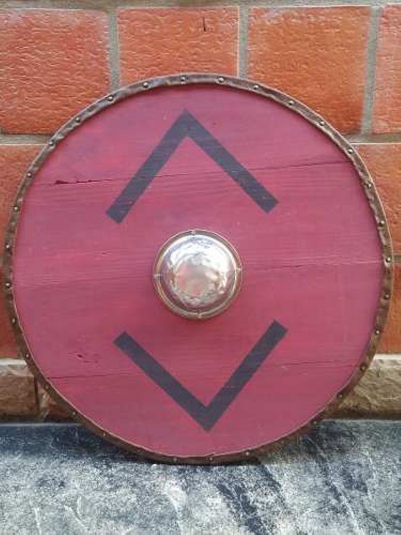 Escudo Viking Madeira - Medieval - Artesanal Bjorn