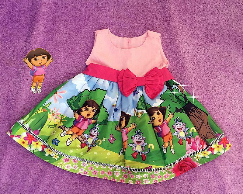Vestido Dora Aventureira 100% Algodao