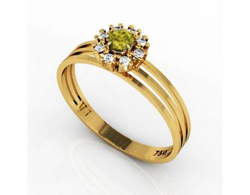 Anel Ouro 18K Pedras VJ5596