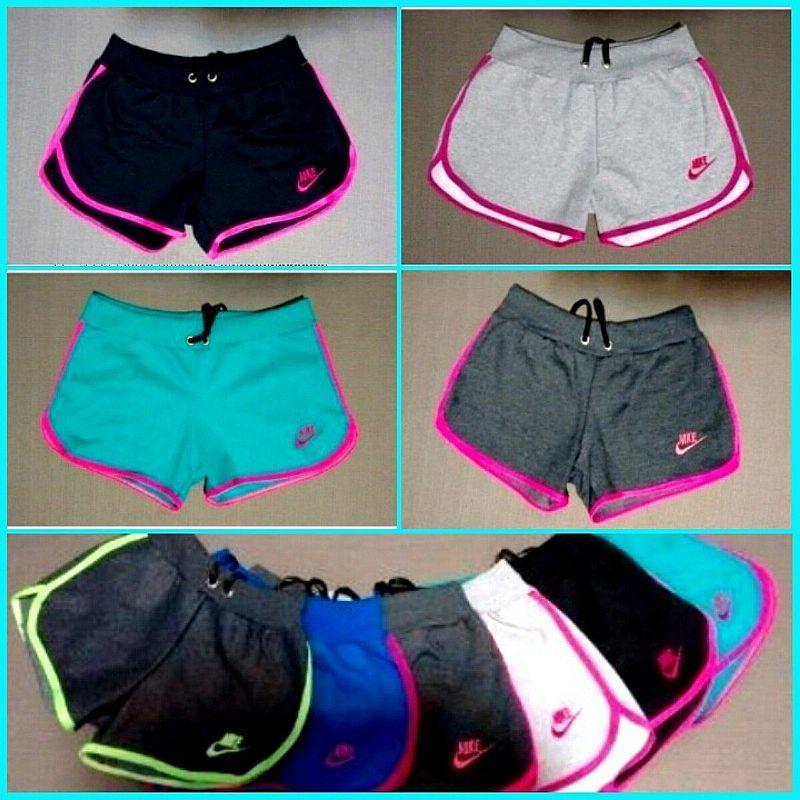 Kit 5 Shorts Feminino Moleton 100% Algodao,  Hollister,  Nike