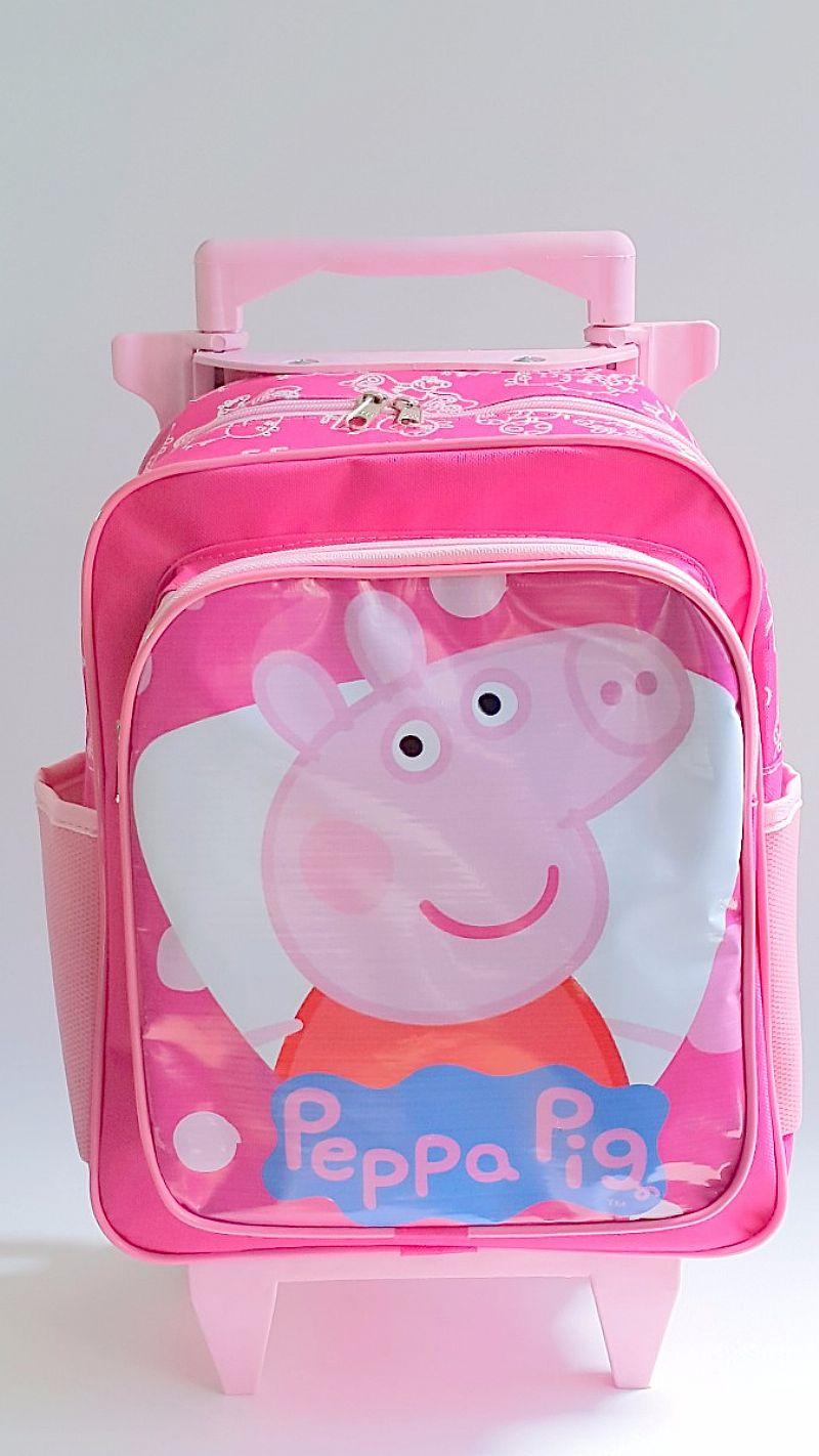 Mochila Rodinhas Tam (m) Infantil Peppa Pig Promocao