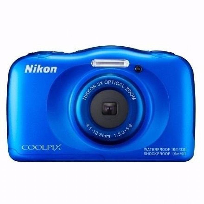 Camera Nikon Coolpix S33 Full Hd,  13mp,  Á Prova Dagua 10m