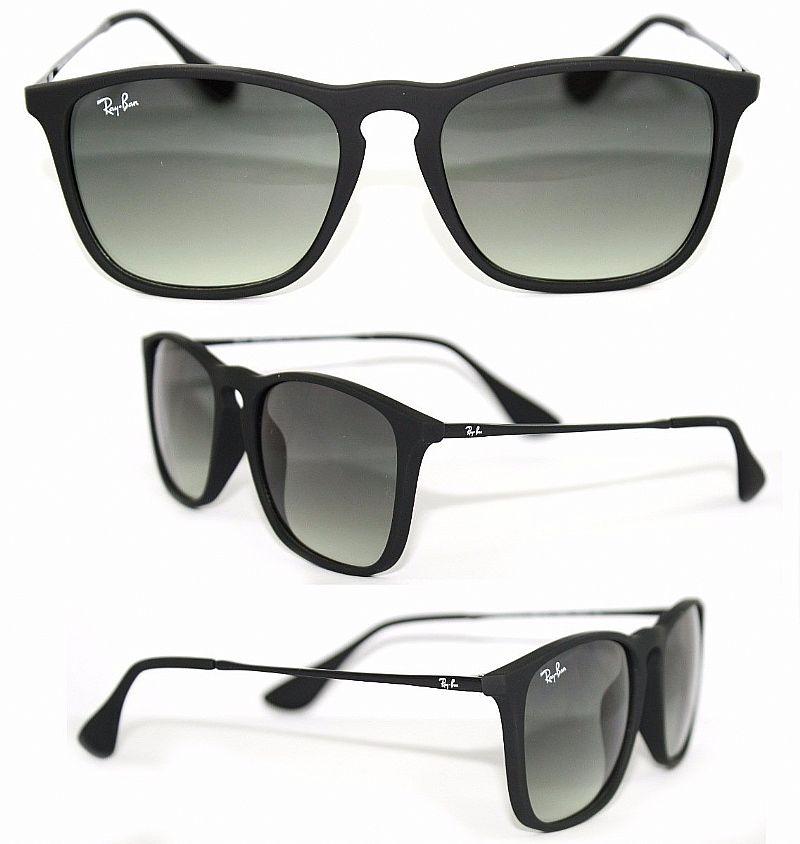 17b0dc618d5c1 Óculos De Sol Chris Wayfarer Rb4181 Preto Feminino Masculino