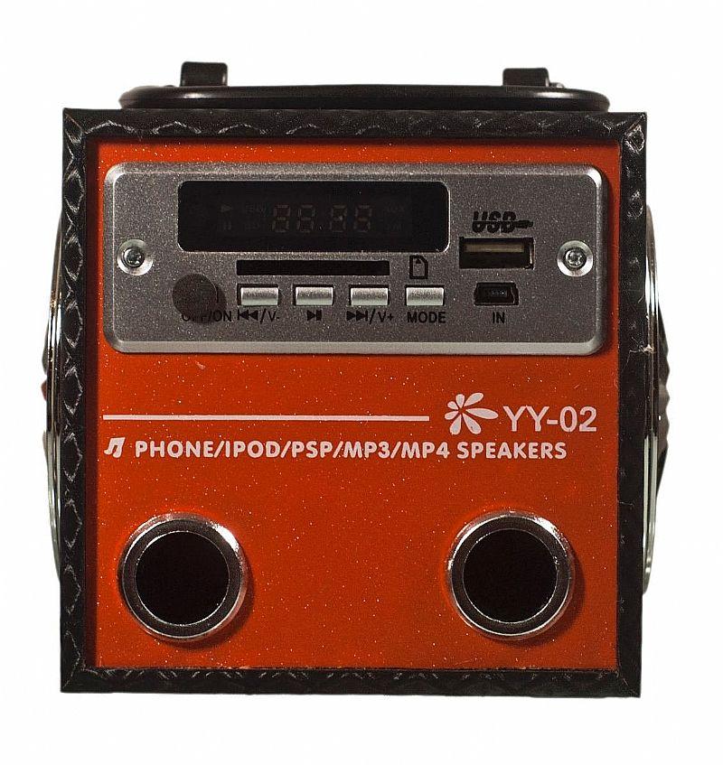 Caixa De Som Portatil Yy 02 Entrada Usb Radio Fm Sd Card