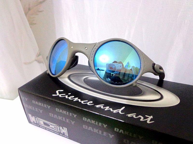 969691793 Óculos Mars Medusa Metal Ice Azul Polarizada Frete Gratis