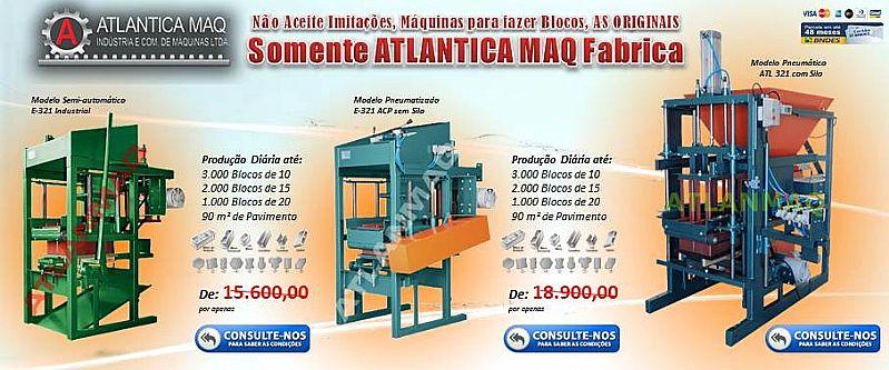 Maquinas para Blocos de Concreto,   Pneumatica Ou Hidraulica