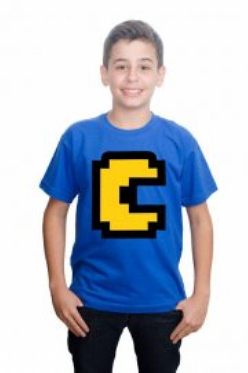 Camiseta minecraft pac man infantil