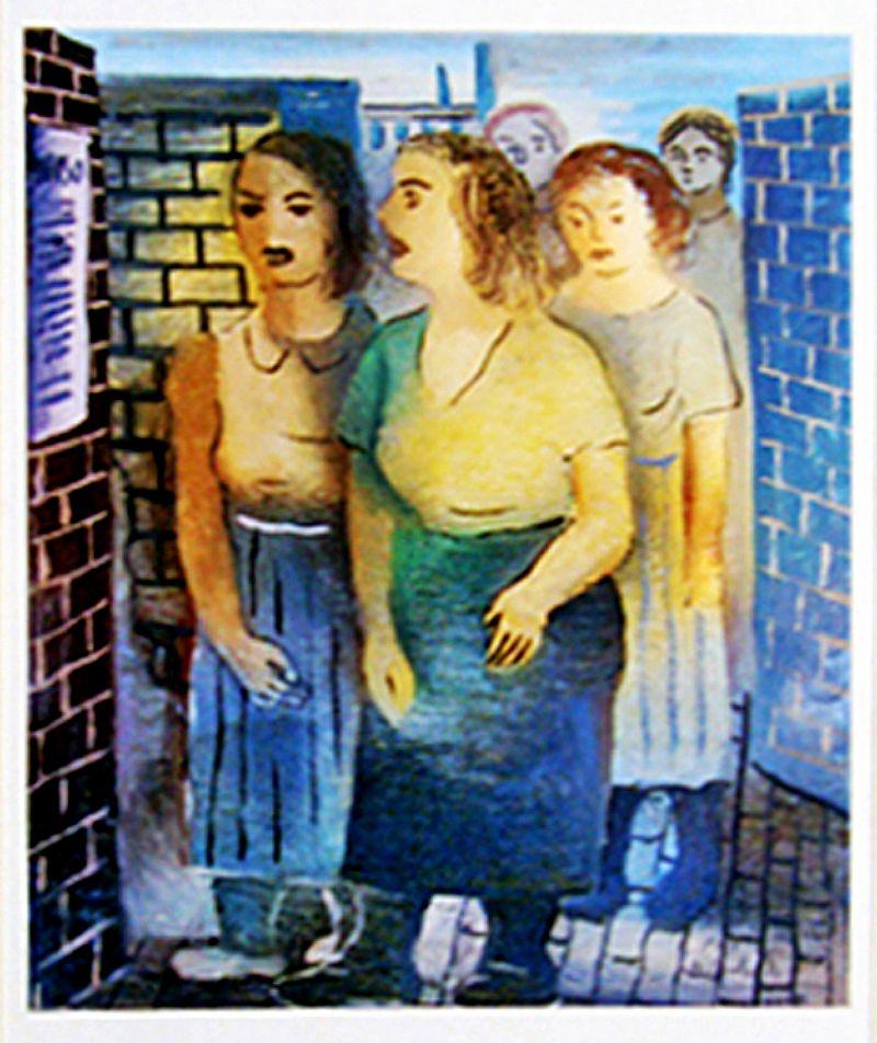 Mulheres da Rua,  Quadro do Artista DI Cavalcanti de 1943
