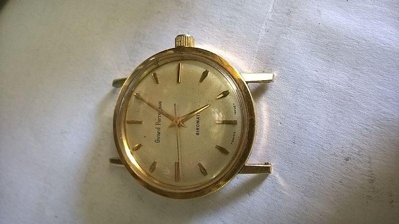 relogio girad perregoux  em ouro modelo giromatic