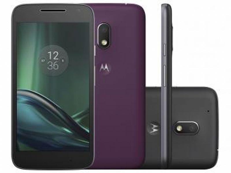 Smartphone Motorola Moto G 4ª Geracao Play DTV - 16GB Preto Dual Chip 4G Cam. 8MP   Selfie 5MP