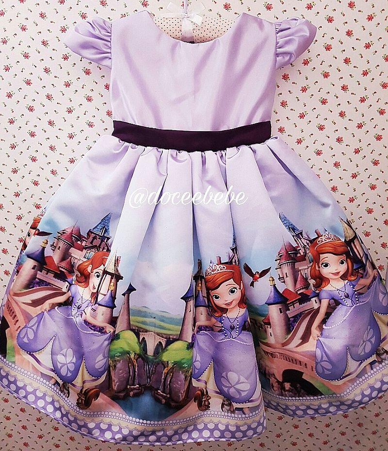 Vestido Princesa Sofia Doce Bebe