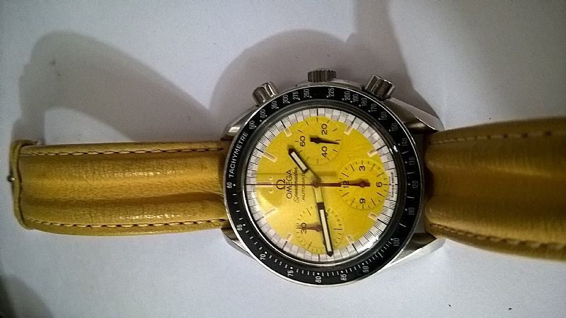 Relogio omega cronografo automatico amarelo speed master