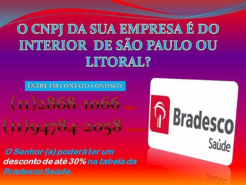 PLANOS DE SAÚDE BRADESCO COM ATÉ 30% DE DESCONTO NA TABELA DO INTERIOR OU LITORAL