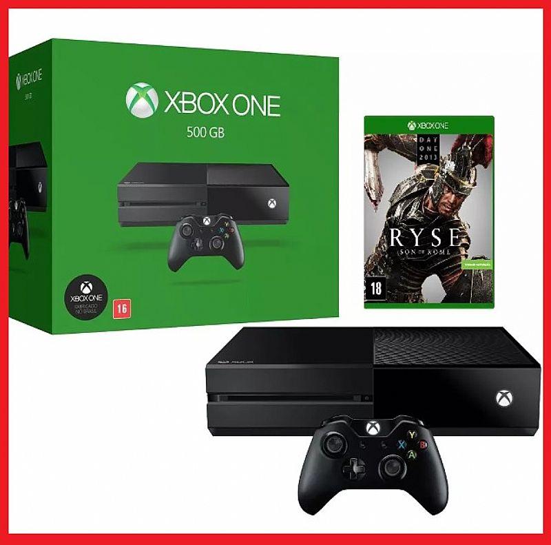Game Console Xbox One 500gb   Jogo Ryse Novo Na Caixa Xone