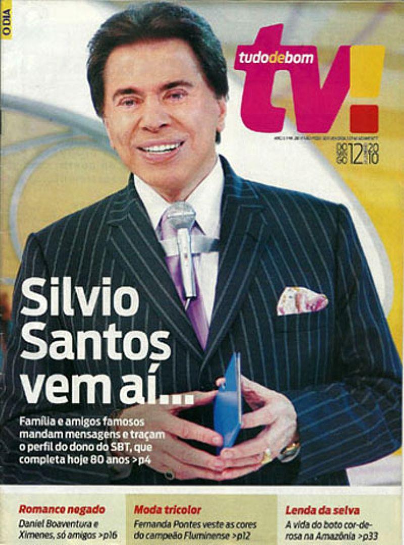 80 Anos de Silvio Santos Principal e Mais Completo Comunicador,  Revista