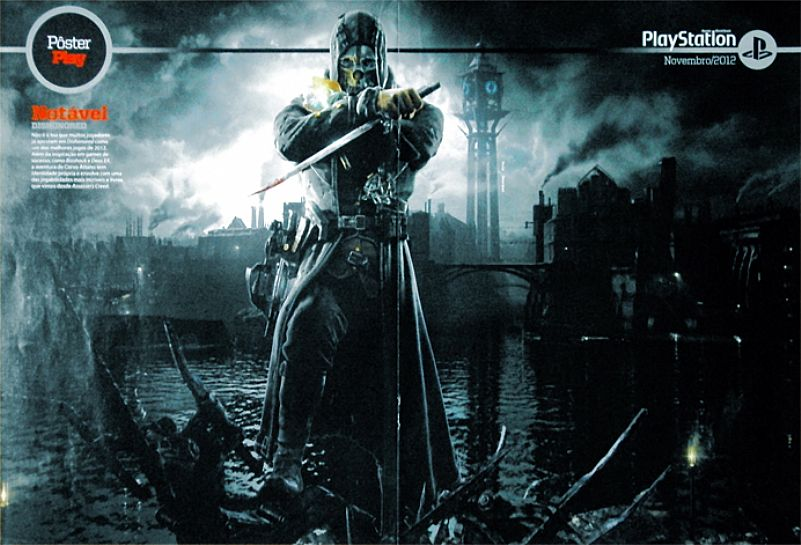 Notavel Dishonored e Gatota Pay (Ana Paula Minerato),  da Revista PlayStation