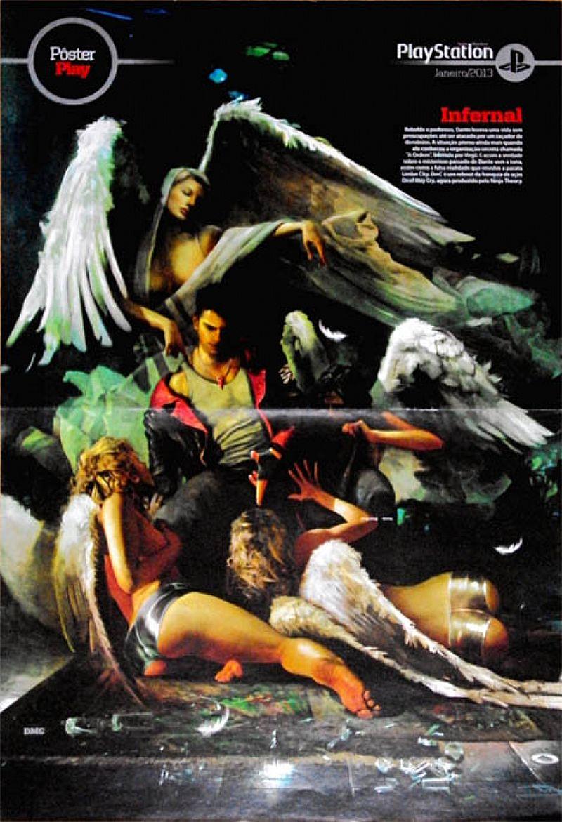 Infernal,  Rebelde e Poderoso e Gatota Pay (Amanda Barral),  da Revista PlayStation