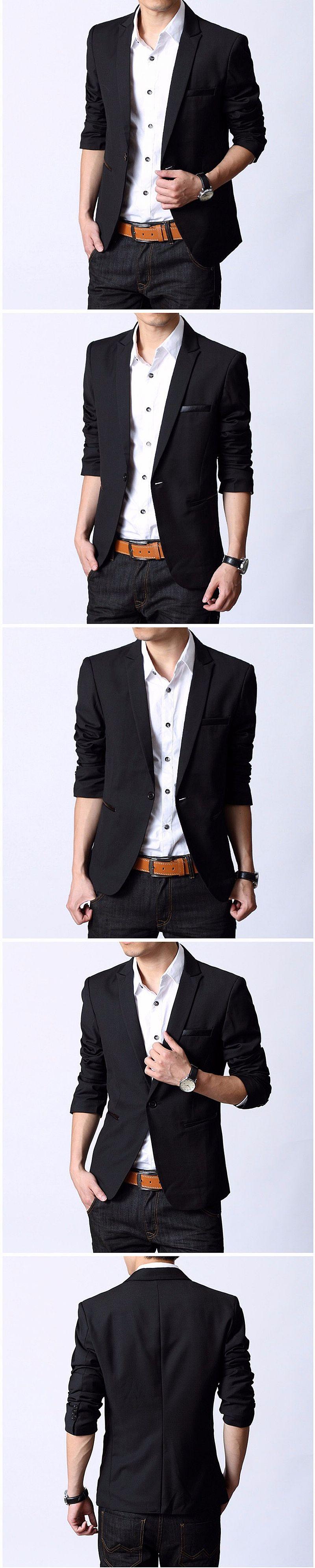 2017 Chegada Nova Marca Homens Moda Slim Ternos Jaqueta Blazer Ocasional Masculino Blazer Casaco One-Botao Terno Formal Dos Homens Paleto