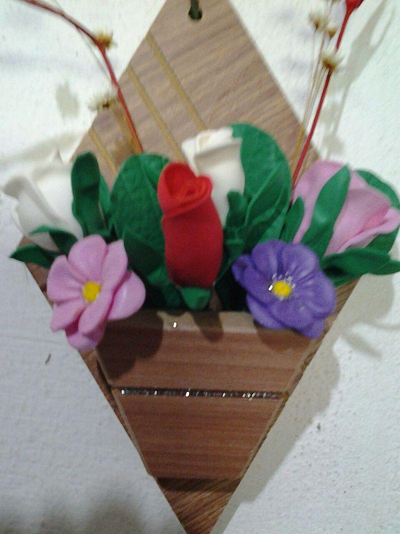 Flores em eva e reciclaveis
