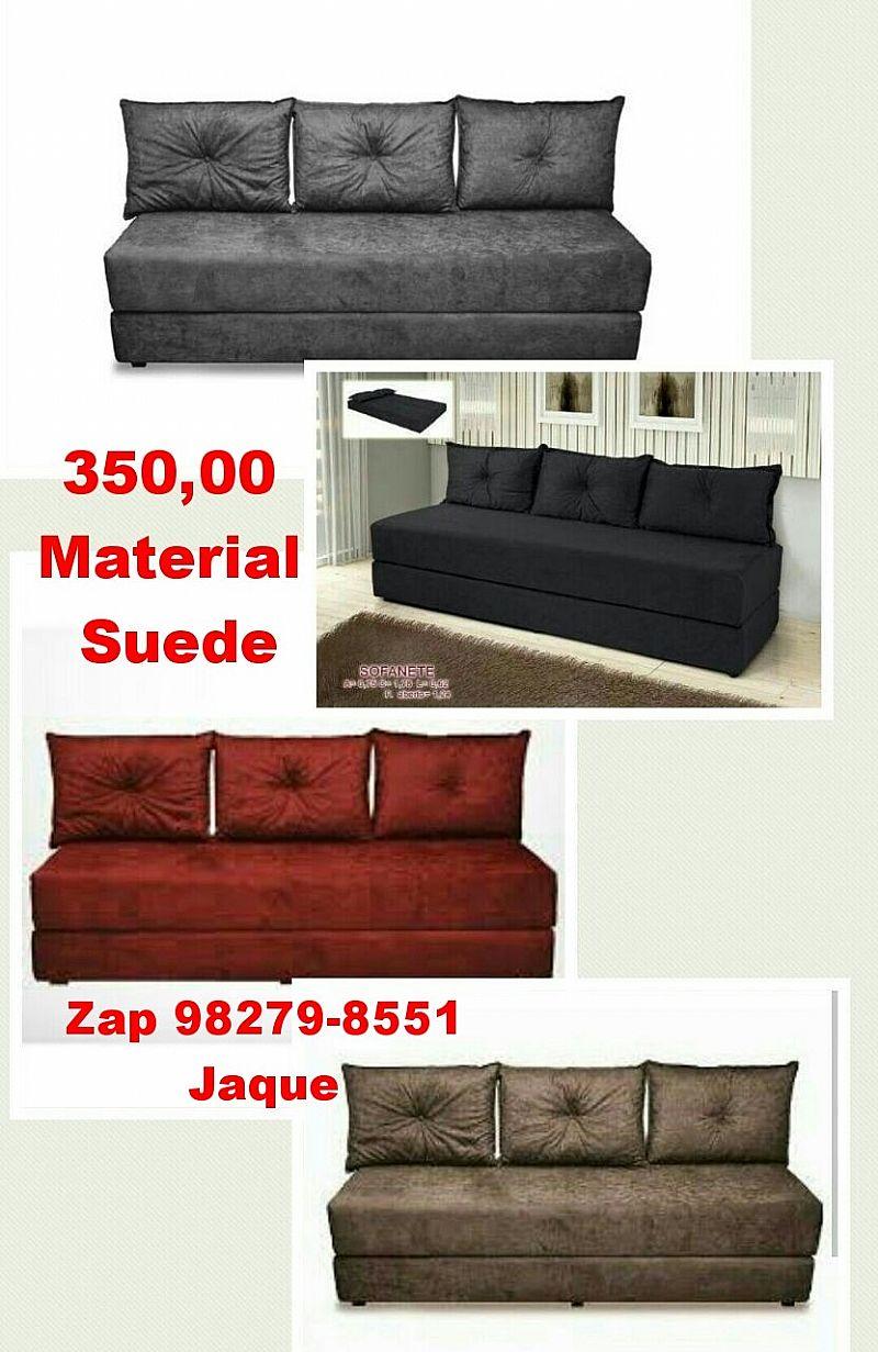 Sofa cama suede varias cores